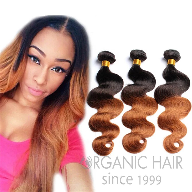 Ombre Color Hair Human Weave Hair Extensions China Oem Ombre Color