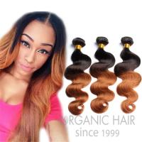 Ombre color hair human weave hair extensions