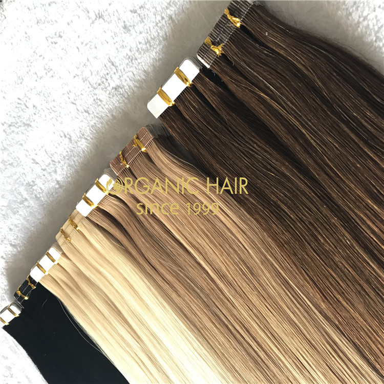 Customized special design best qualtiy tape in hair A175