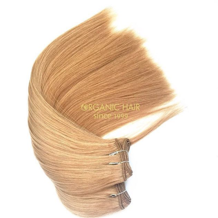 Soft and double drawn human hair weft for women at a wholesale price A89