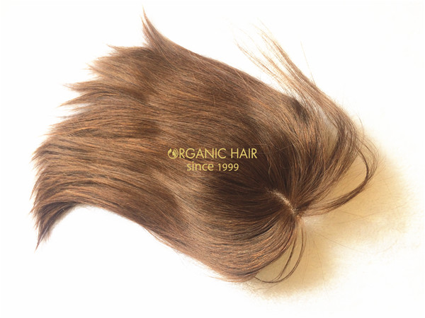 Organic human hair toppers for short hair