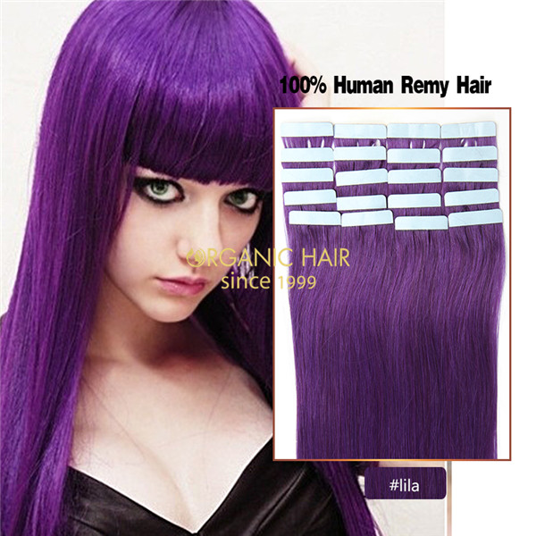 Purple Hair Extensions Tape Hair Extensions Reviews China Oem