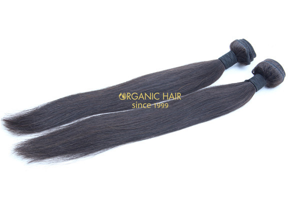 Real brazilian straight human hair extensions