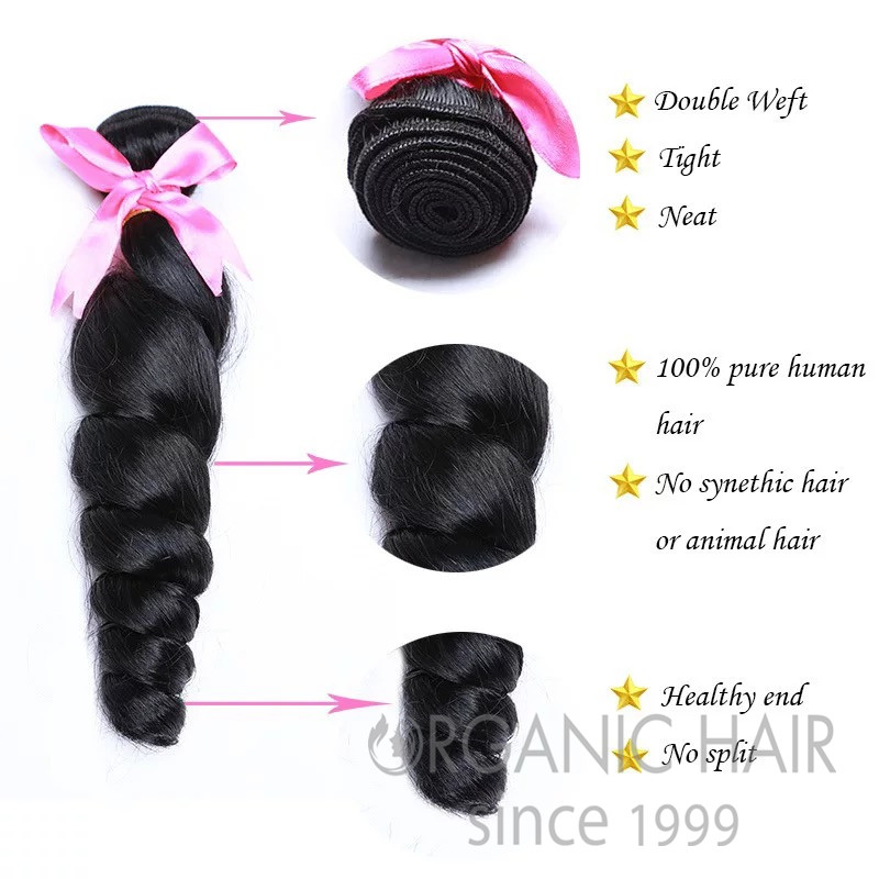 Real mink virgin brazilian human hair extensions