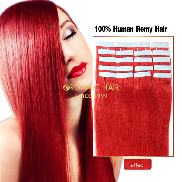 Red Hair Extensions Tape In Wavy Hair Extensions China Oem Red Hair