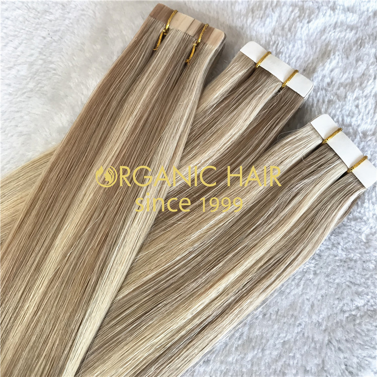 Wholesale Tape in hair extensions human hair supplier A04