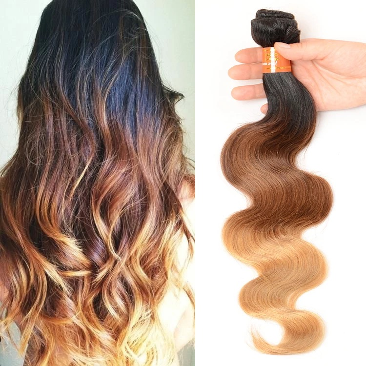 Virgin brazilian colored hair extensions