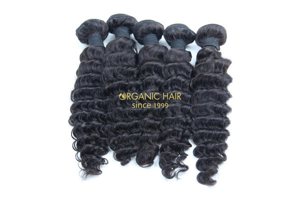 Virgin brazilian deep wave remy hair extenisons