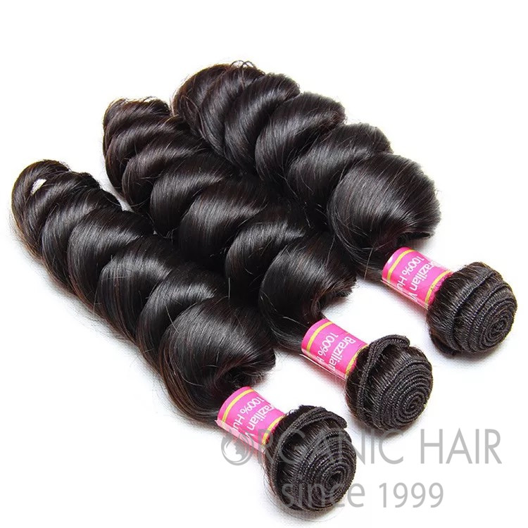 Virgin mink brazilian human hair extensions