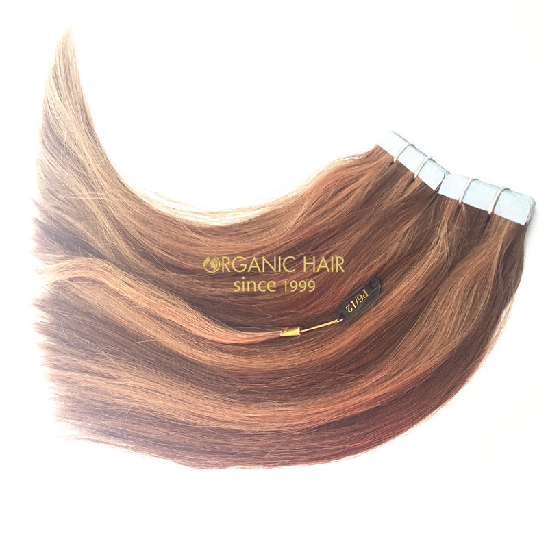 Virgin peruvian straight tape in hair extensions