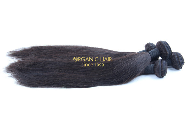 Virgin remy brazilian straight human hair extensions