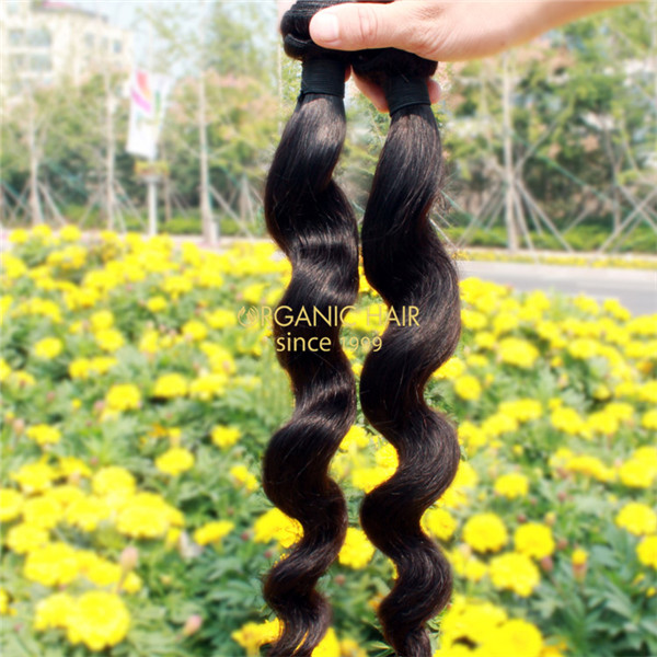 Wavy remy human hair weave