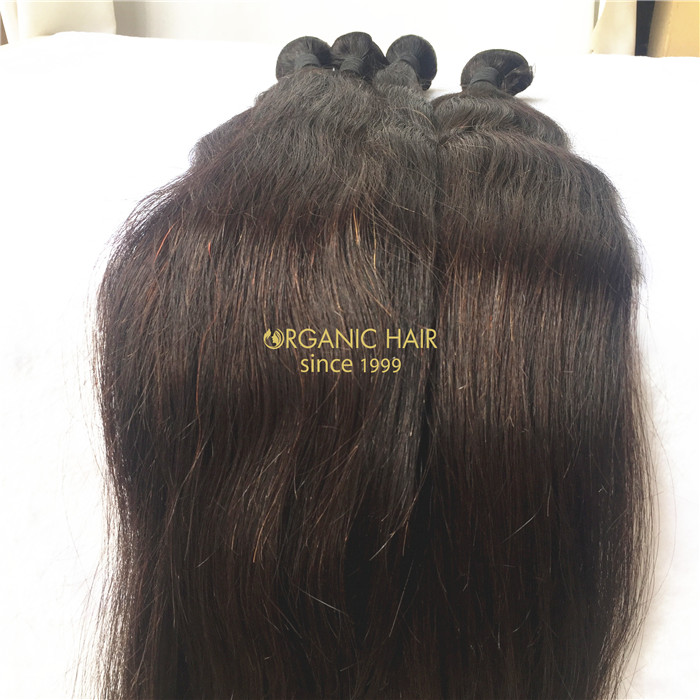 Wholesale 24 inch straight human hair weave