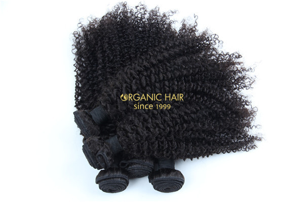 Wholesale afro kinky curly brazilian hair extensions