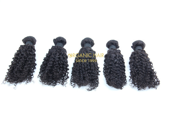 Wholesale afro kinky curly virgin human hair extensions
