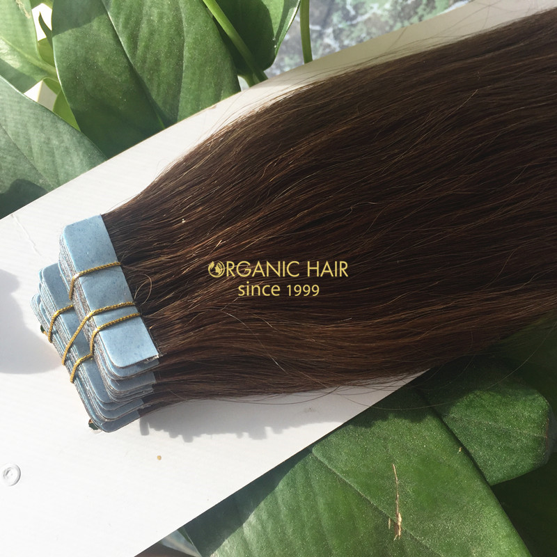 Wholesale virgin russian tape in hair extensions