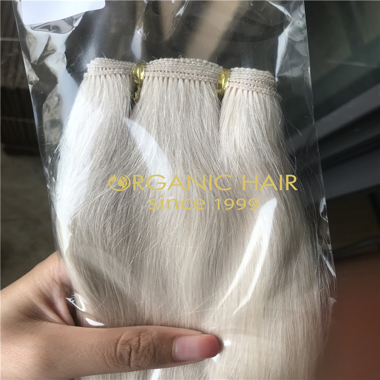 Pearl White Beaded weft Extenions For Summer H281