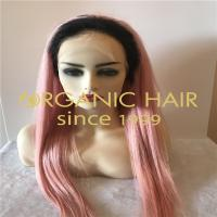 Baby pink full lace wig for women H85