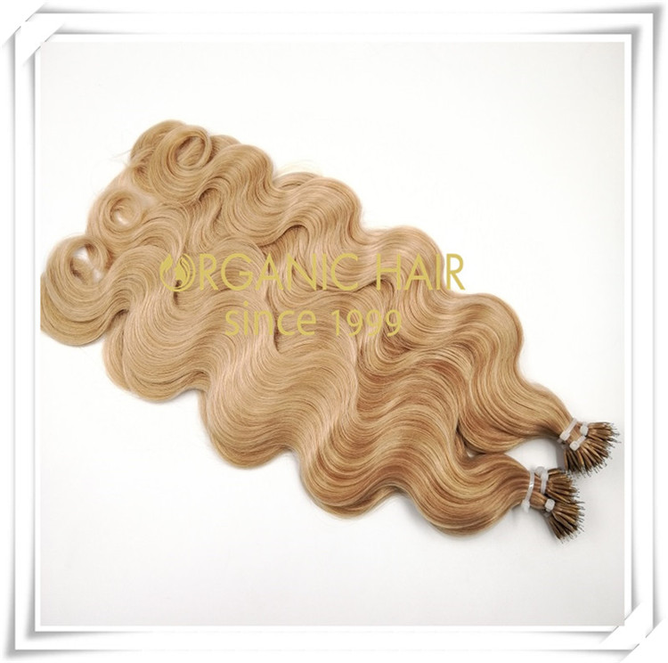 Balayage color body wave nano ring C066