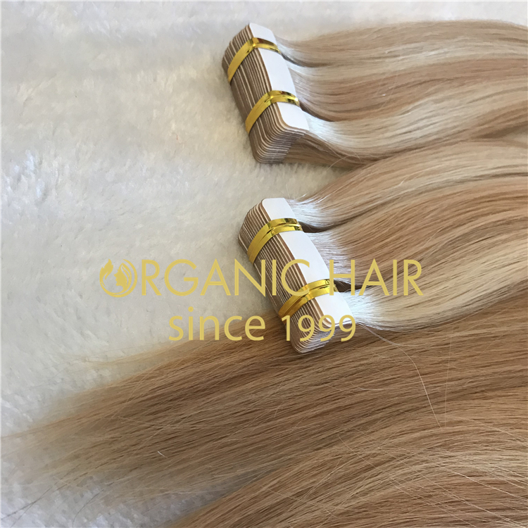 Full cuticle hair extensions:tape ins H53