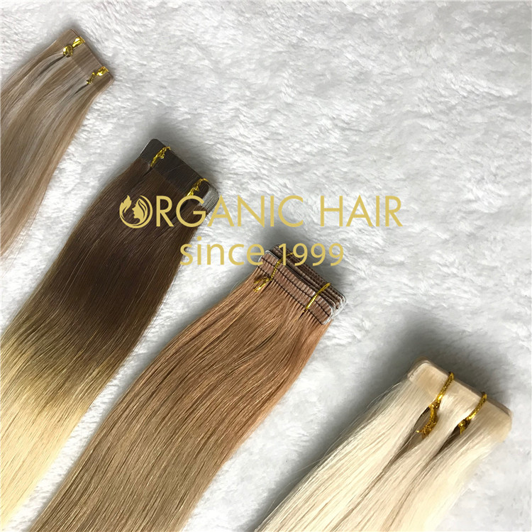 All types of tape in hair extensions H66