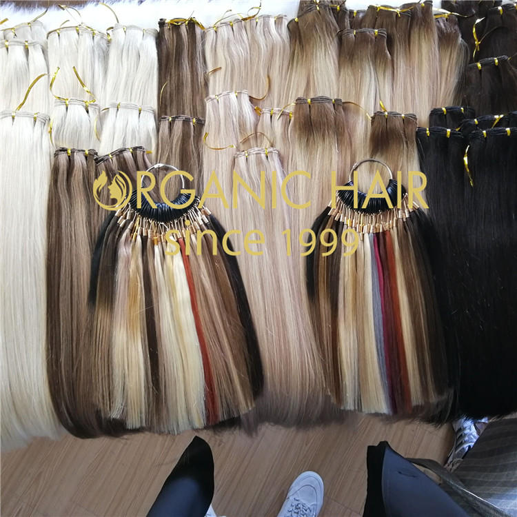 Custom beaded weft extension manufacturer  H275