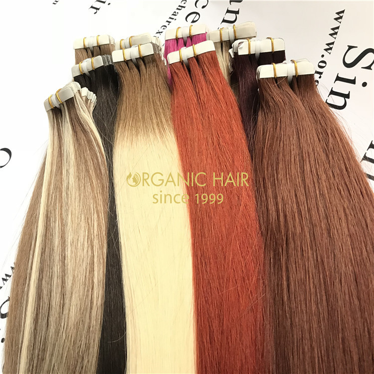 Most populal!  Double drawn remy tape in hair extensions hot sale !  A45