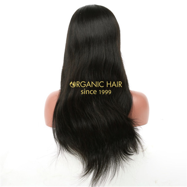 Lace front wigs natural hair wigs straight style