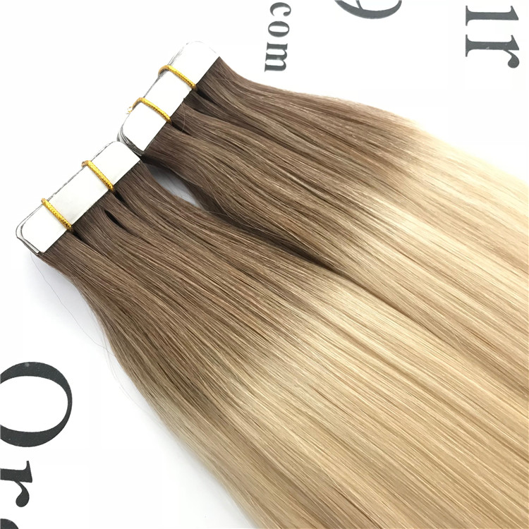 Customized 100human Hair Tape In Hair Extension C13 China Oem