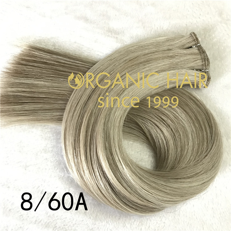 Hand tied weft full cuticle intact and double drawn color8/60A   C97