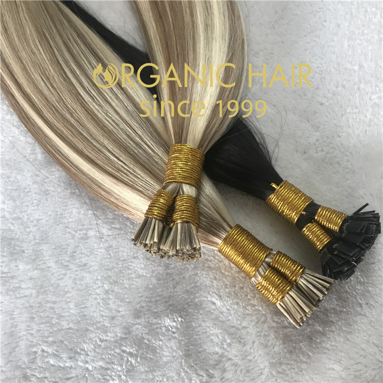 High quality Pre-bonded itip & flat tip hair extensions C40