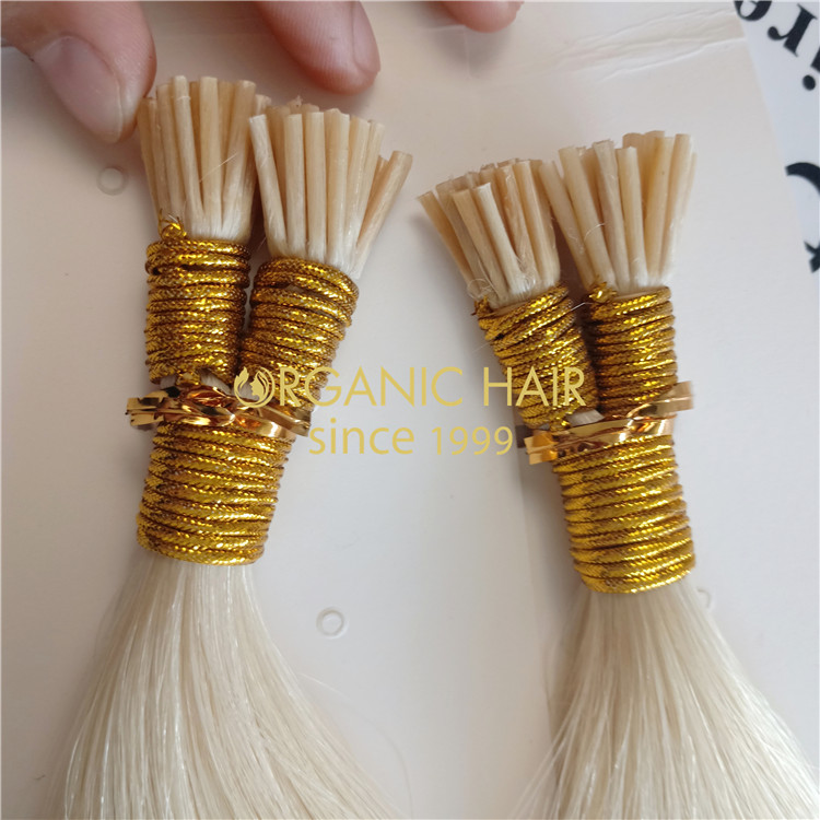 Best quality blonde i tip hair with wholesale price A76
