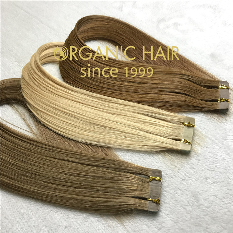 High quality double drawn tape in hair extensions C55
