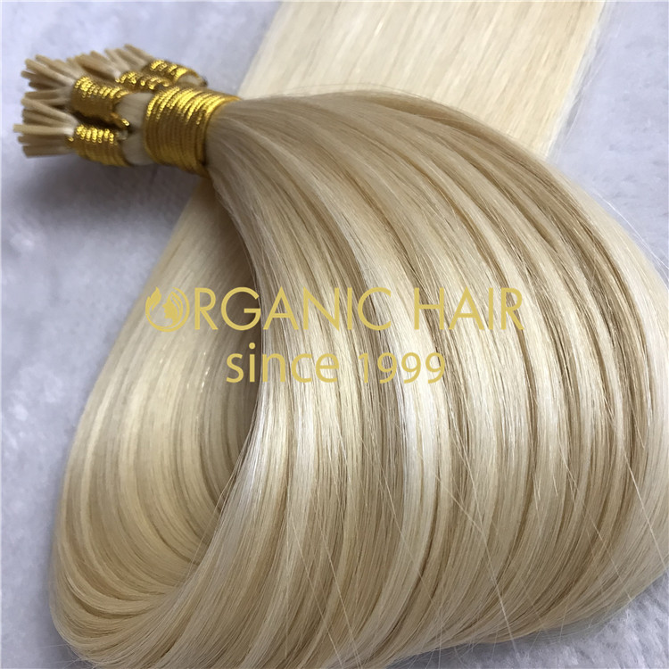 Real human hair extensions for sale--I tip hair extension C3