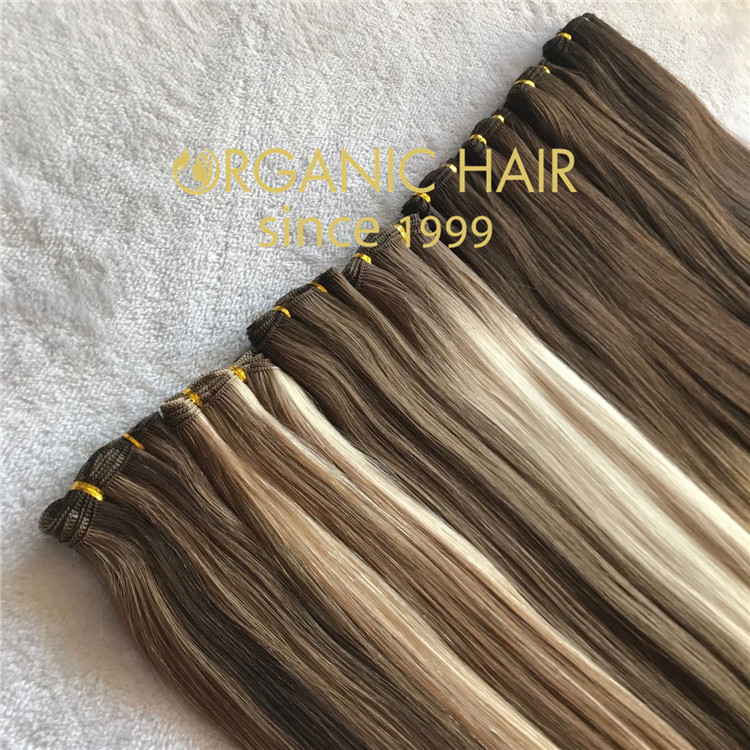 Best seller russian virgin hair 100% handtied weft  C62