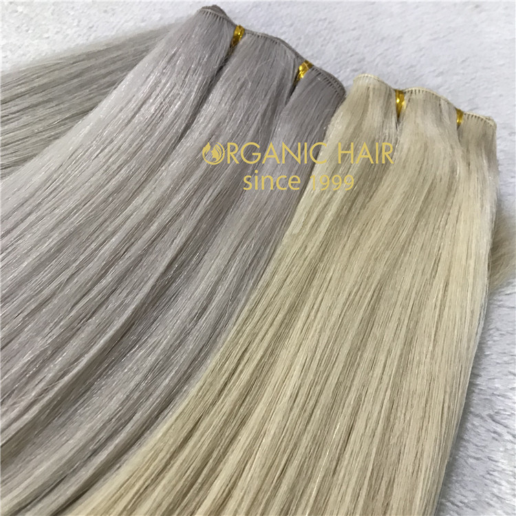 Full cuticle double drawn human virgin handtied weft J15