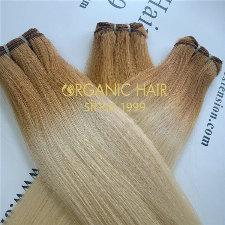 Wholesale machine wet remy human hair extensions V33
