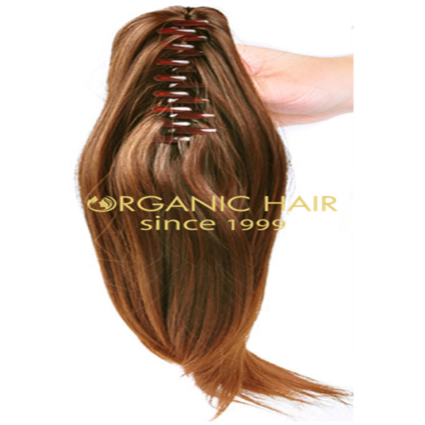 remy human hair ponytail, long ponytail extenison, hair pieces ponytail hot sale in Europe Gt11