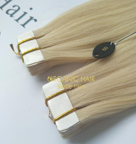 Hot sale double drawn tape in hair extensions #60  A60