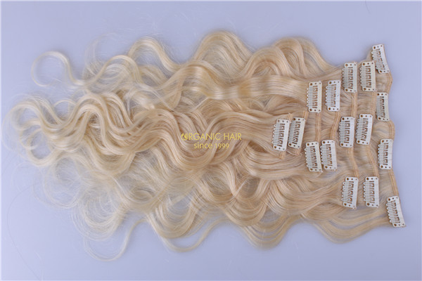 100 remy human hair clip in extensions