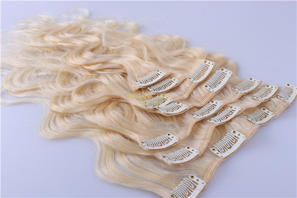 blonde clip in hair extensions nyc