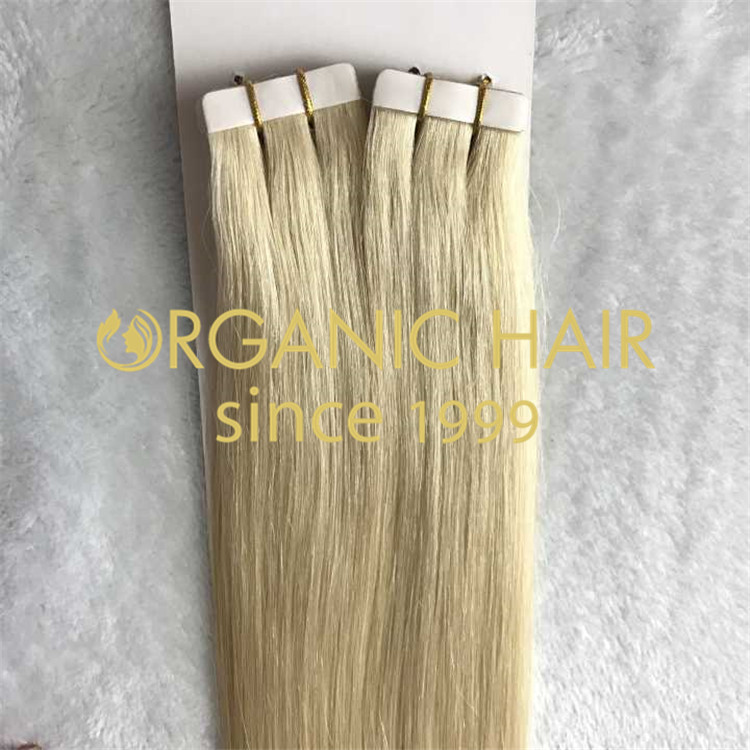 Blonde hair tape extensions #60 H90