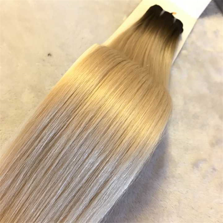 T color platinum bolonde hair weft #4/60A H50