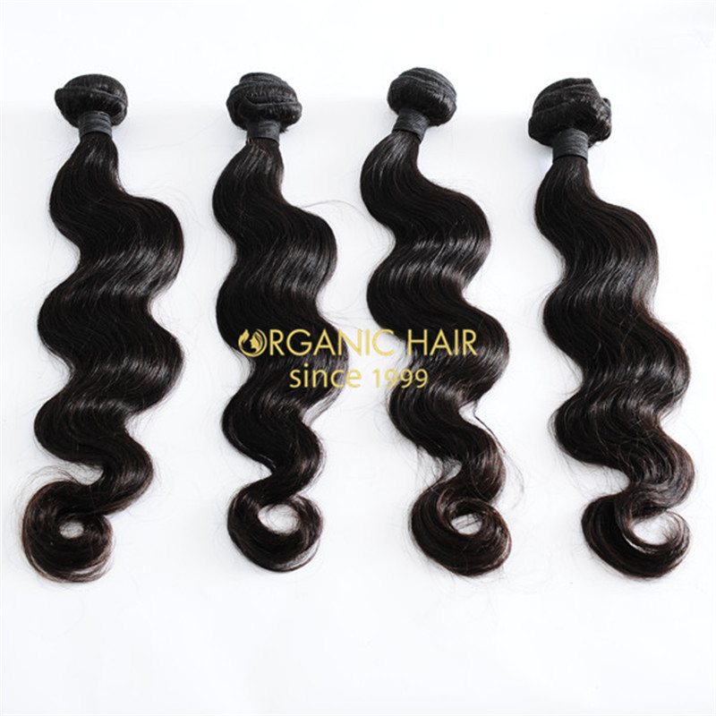 Factory price body wave virgin brazilian human hair weave