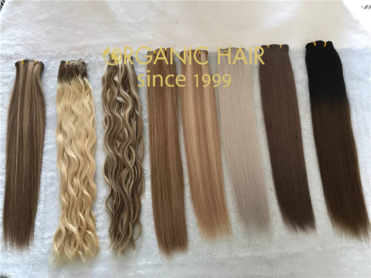 Real human hair extensions for sale handtied weft C63
