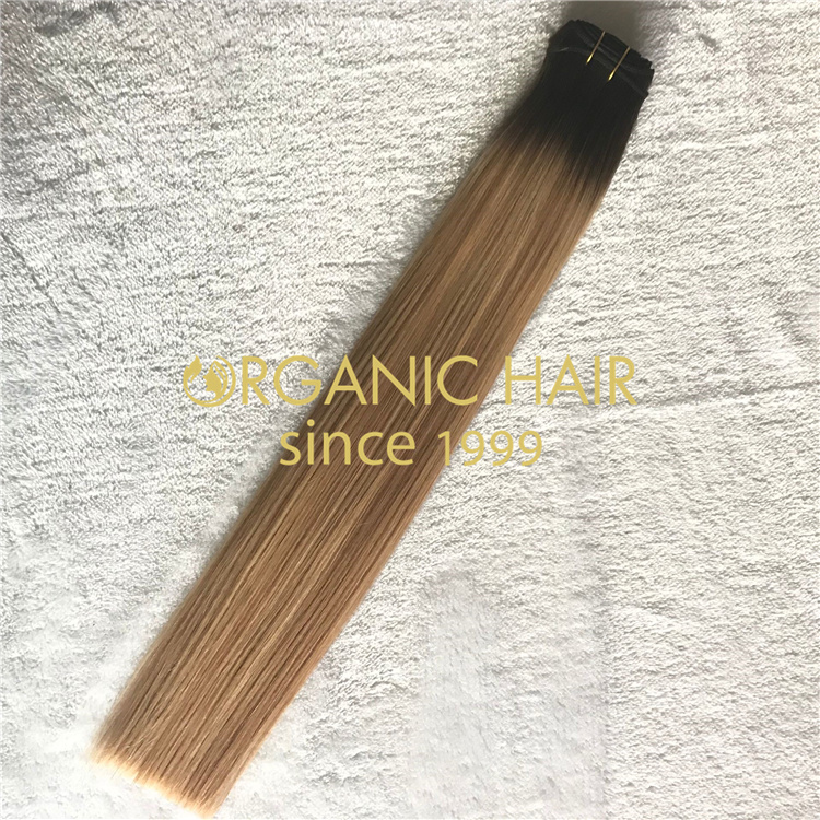 Wholesale best machine weft hair extensions V23