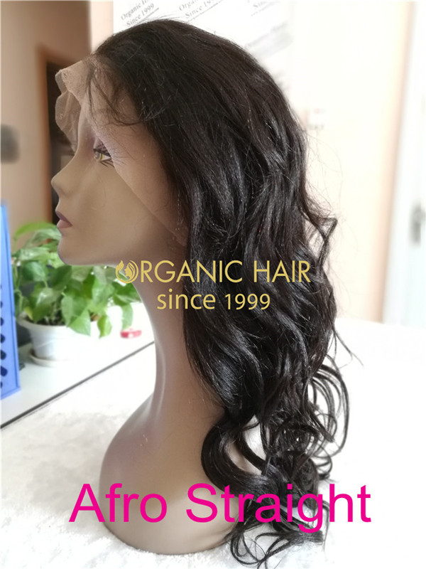 Wholesale cheap human hair full lace front wigs Afro straight X34