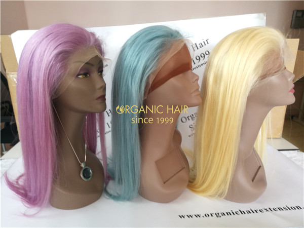 Wholesale colorful full lace wigs virgin hair X29