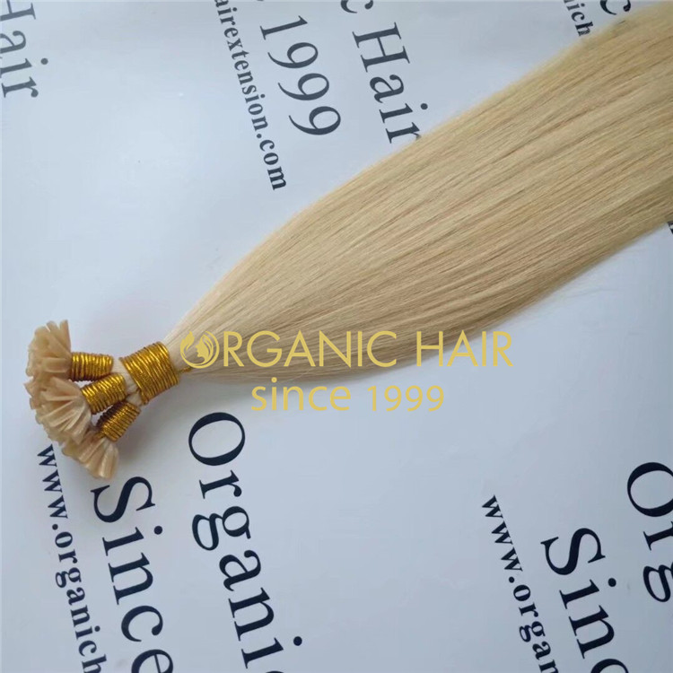 Blonde u tip full cuticle hair with wholesale price A153