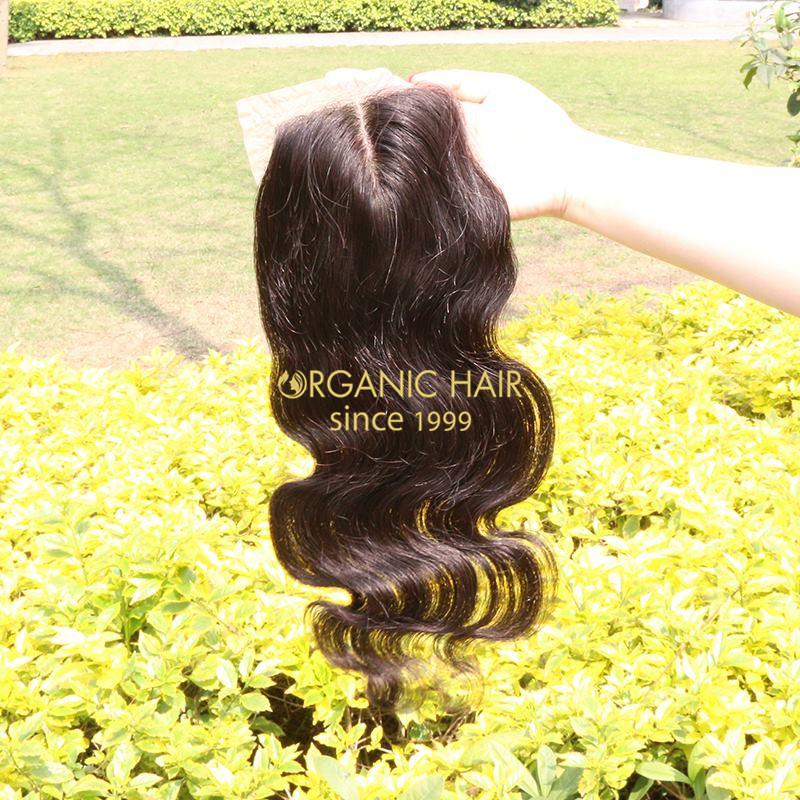 Large stock wholesale china hair pieces factory closure lace hair